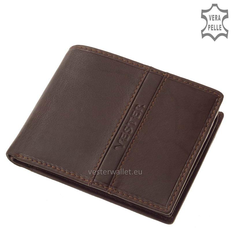 Finom tapintású barna férfi pénztárca VMF09