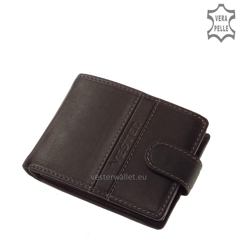 Finom tapintású fekete férfi pénztárca VMF102/T