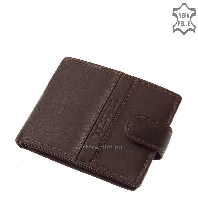 Finom tapintású barna férfi pénztárca VMF102/T