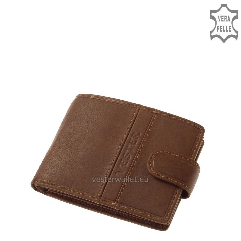 Finom tapintású világos barna férfi pénztárca VMF102/T