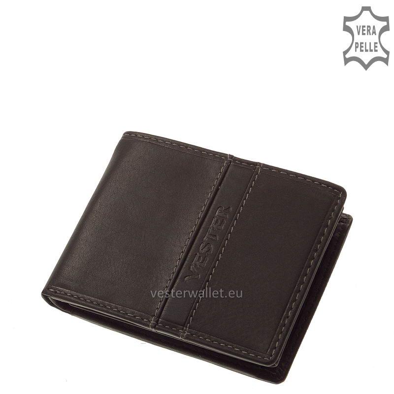 Finom tapintású fekete férfi pénztárca VMF102