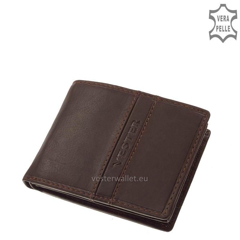 Finom tapintású barna férfi pénztárca VMF102