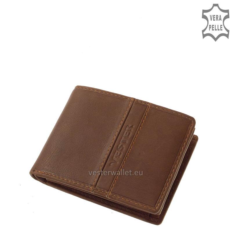 Finom tapintású világos barna férfi pénztárca VMF102