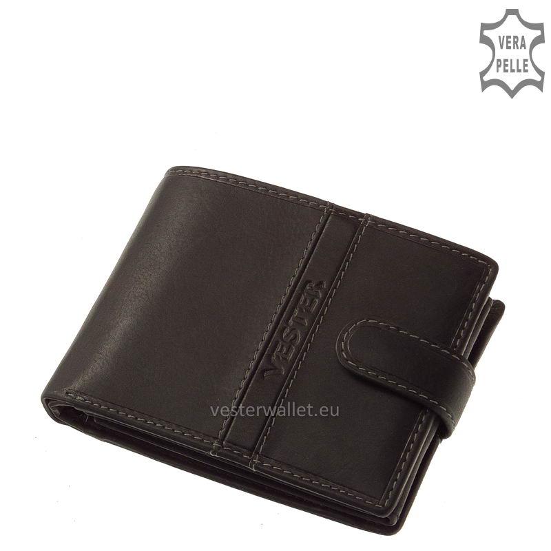 Finom tapintású fekete férfi pénztárca VMF1021/T