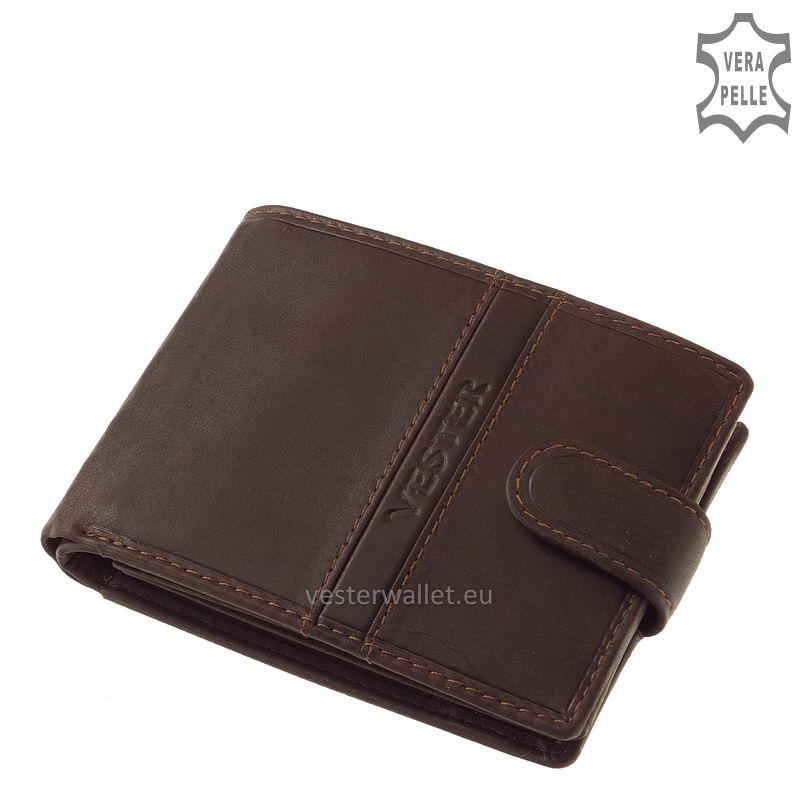 Finom tapintású barna férfi pénztárca VMF1021/T
