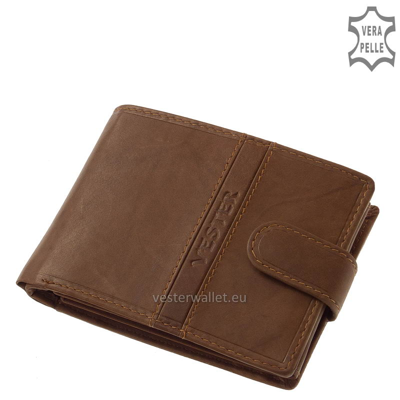 Finom tapintású világos barna férfi pénztárca VMF1021/T