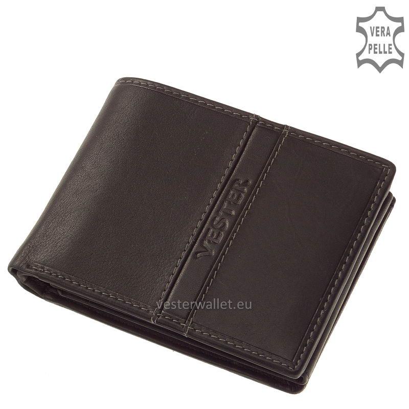 Finom tapintású fekete férfi pénztárca VMF1021