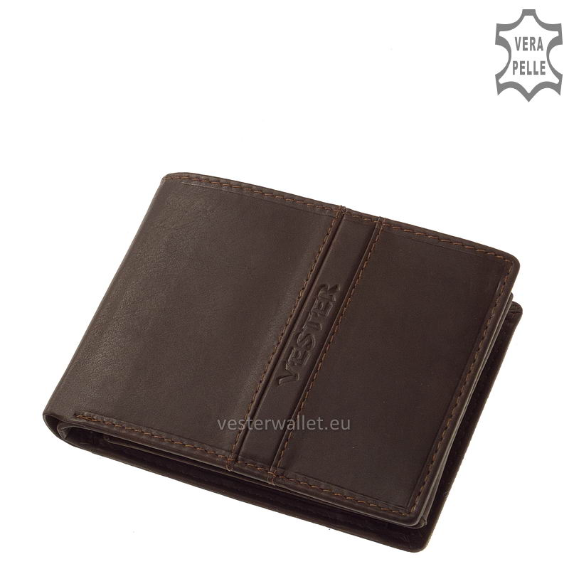 Finom tapintású barna férfi pénztárca VMF1021
