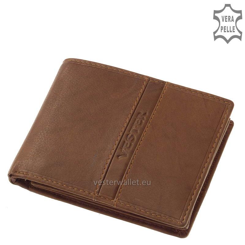 Finom tapintású világos barna férfi pénztárca VMF1021