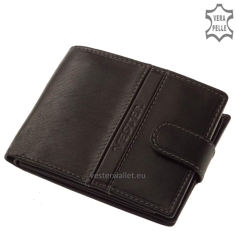 Finom tapintású fekete férfi pénztárca VMF1027