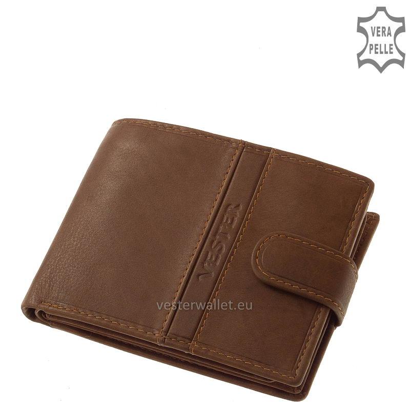 Finom tapintású világos barna férfi pénztárca VMF1027