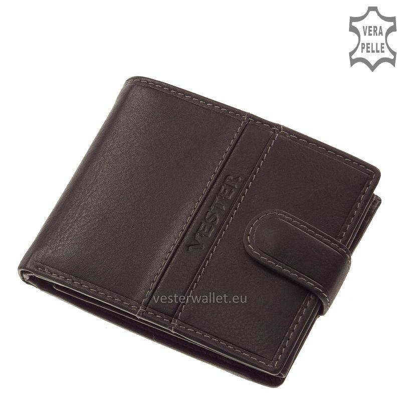 Finom tapintású fekete férfi pénztárca VMF6002L/T