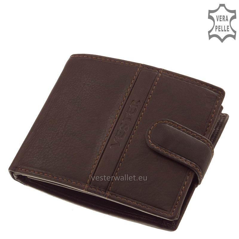 Finom tapintású barna férfi pénztárca VMF6002L/T