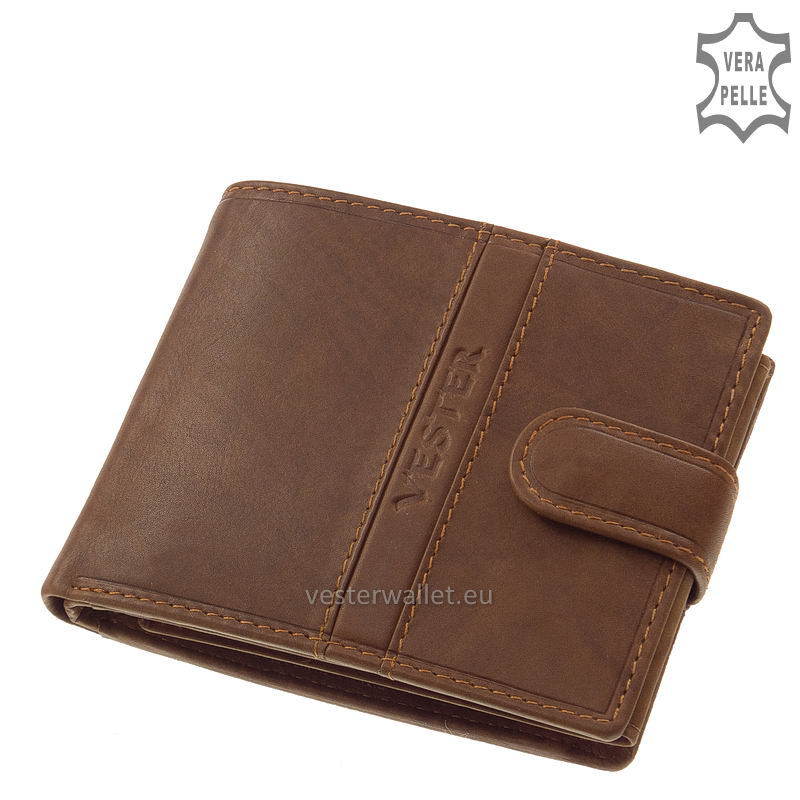 Finom tapintású világos barna férfi pénztárca VMF6002L/T